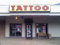 Typical U.S. tattoo parlor