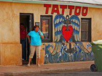 Front of tattoo shop